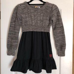 ROXY girls sweater dress M 10